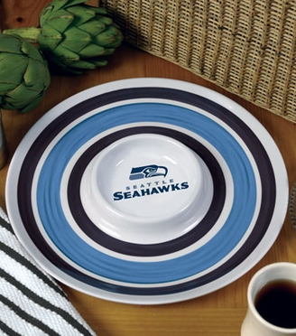 Seattle Seahawks Plastic Chip and Dip Plate