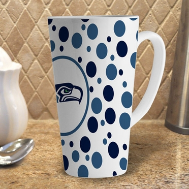 Seattle Seahawks Polkadot 16 oz. Ceramic Latte Mug