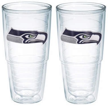 "Seattle Seahawks Set of TWO 24 oz. ""Big T"" Tervis Tumblers"