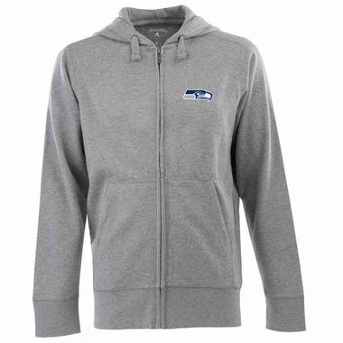 Seattle Seahawks Mens Signature Full Zip Hooded Sweatshirt (Color: Gray)