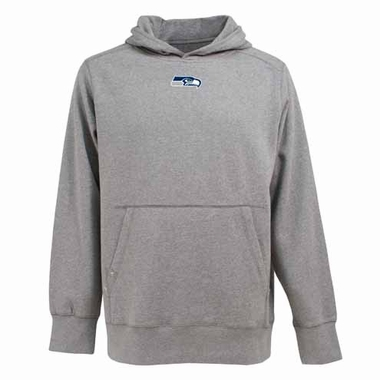 Seattle Seahawks Mens Signature Hooded Sweatshirt (Color: Gray)