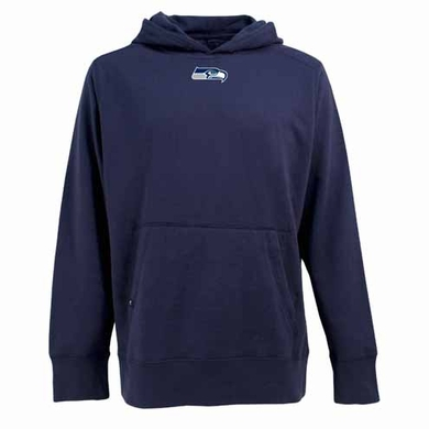 Seattle Seahawks Mens Signature Hooded Sweatshirt (Team Color: Navy)
