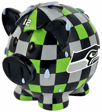 Seattle Seahawks Piggy Bank - Thematic Small