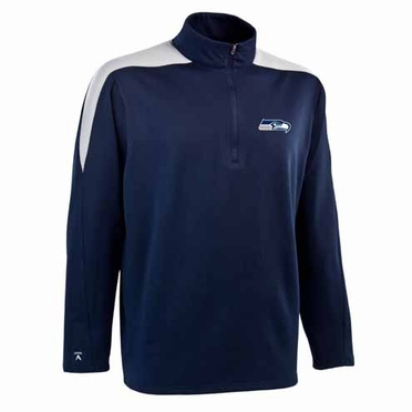 Seattle Seahawks Mens Succeed 1/4 Zip Performance Pullover (Team Color: Navy)