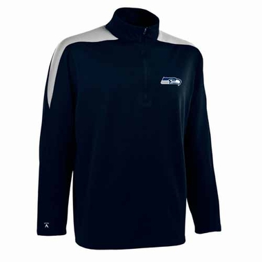 Seattle Seahawks Mens Succeed 1/4 Zip Performance Pullover (Color: Smoke)