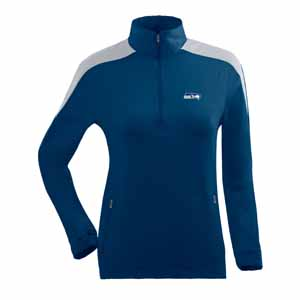 Seattle Seahawks Womens Succeed 1/4 Zip Performance Pullover (Team Color: Navy) - Large