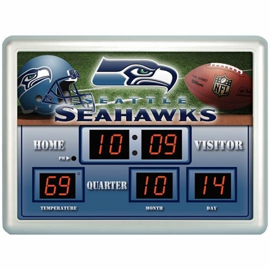 Seattle Seahawks Time / Date / Temp. Scoreboard