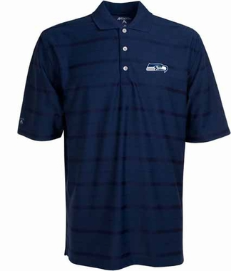 Seattle Seahawks Mens Tonal Polo (Team Color: Navy)