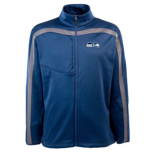 Seattle Seahawks Mens Viper Full Zip Performance Jacket (Team Color: Navy)