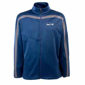 Seattle Seahawks Mens Viper Full Zip Performance Jacket (Team Color: Navy) - Large