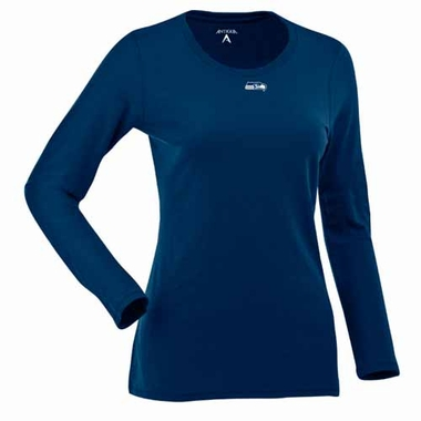 Seattle Seahawks Womens Relax Long Sleeve Tee (Team Color: Navy)