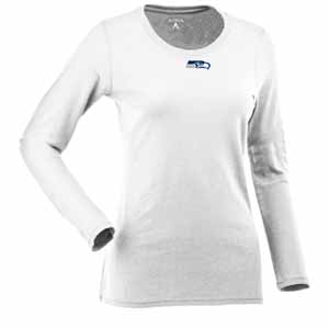 Seattle Seahawks Womens Relax Long Sleeve Tee (Color: White) - X-Large