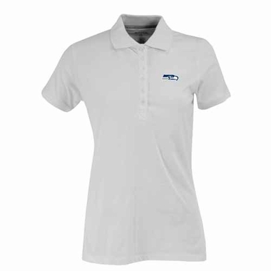 Seattle Seahawks Womens Spark Polo (Color: White)