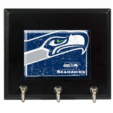 Seattle Seahawks Wooden Keyhook Rack
