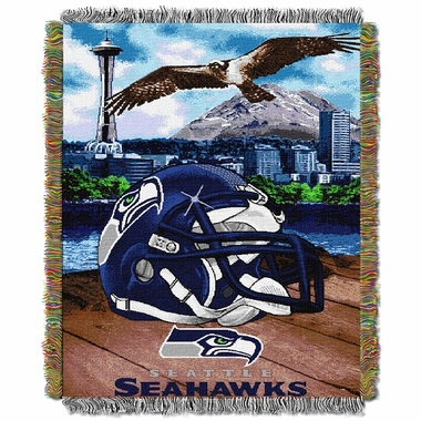 Seattle Seahawks Woven Tapestry Throw Blanket
