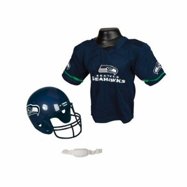 Seattle Seahawks Youth Helmet and Jersey Set