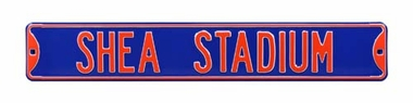Shea Stadium Blue Street Sign