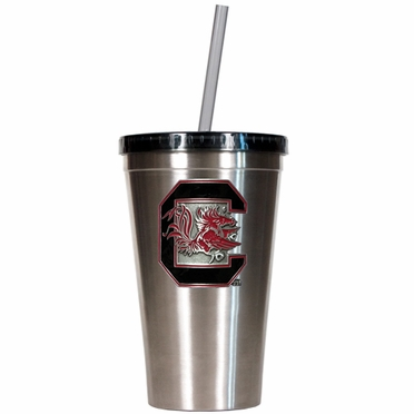South Carolina 16oz Stainless Steel Insulated Tumbler with Straw