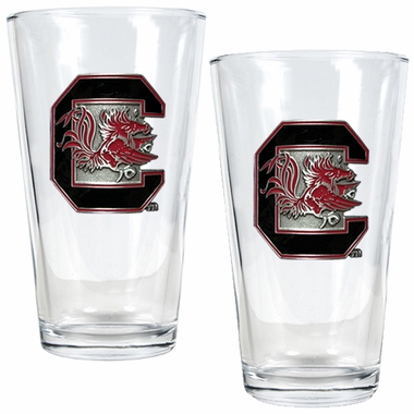 South Carolina 2 Piece Pint Glass Set