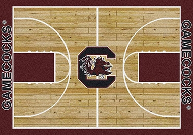 "South Carolina 7'8"" x 10'9"" Premium Court Rug"