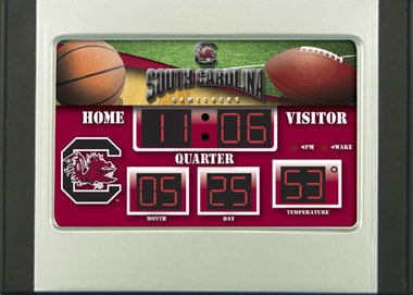 South Carolina Alarm Clock Desk Scoreboard