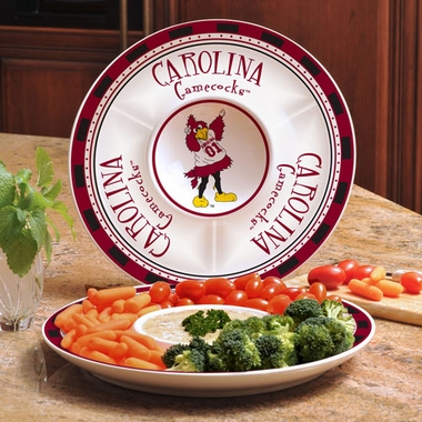 South Carolina Ceramic Chip and Dip Plate