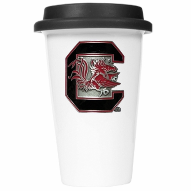 South Carolina Ceramic Travel Cup (Black Lid)