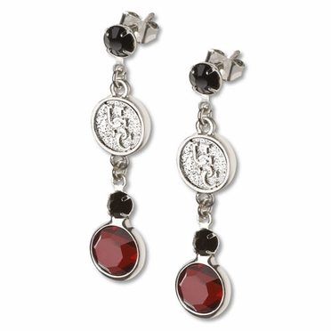 South Carolina Crystal Logo Dangle Earrings