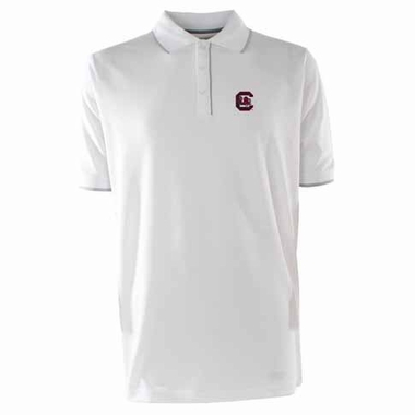 South Carolina Mens Elite Polo Shirt (Color: White)