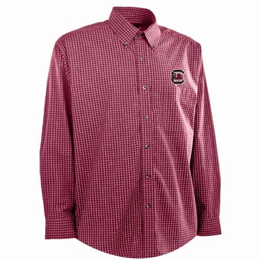 South Carolina Mens Esteem Button Down Dress Shirt (Team Color: Maroon)