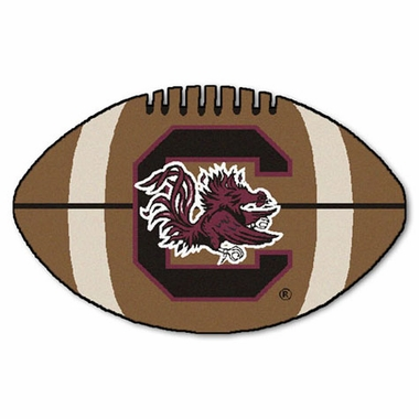 South Carolina Football Shaped Rug