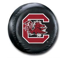 South Carolina Gamecocks Black Spare Tire Cover (Small Size)
