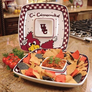 South Carolina Gameday Ceramic Chip and Dip Platter