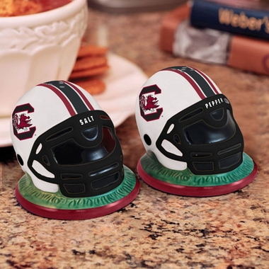 South Carolina Helmet Ceramic Salt and Pepper Shakers