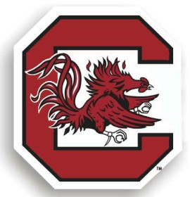"South Carolina Gamecocks 12"" Car Magnet"