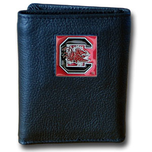 South Carolina Leather Trifold Wallet