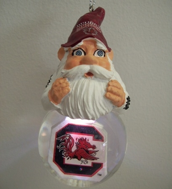 South Carolina Light Up Gnome Snow Globe Ornament