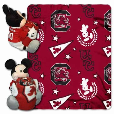 South Carolina Mickey Mouse Pillow / Throw Combo