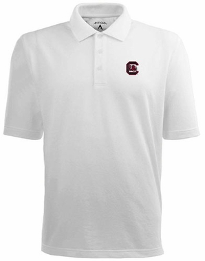 South Carolina Mens Pique Xtra Lite Polo Shirt (Color: White)