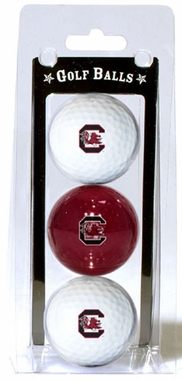 South Carolina Set of 3 Multicolor Golf Balls