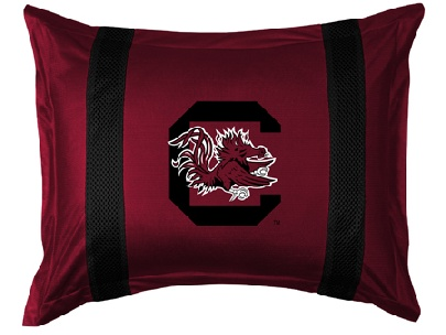 South Carolina SIDELINES Jersey Material Pillow Sham