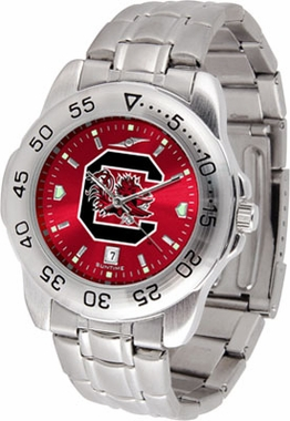 South Carolina Sport Anonized Men's Steel Band Watch