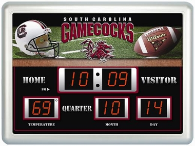 South Carolina Time / Date / Temp. Scoreboard