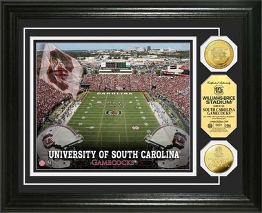 South Carolina Gamecocks University of South Carolina Stadium Gold Coin Photo Mint