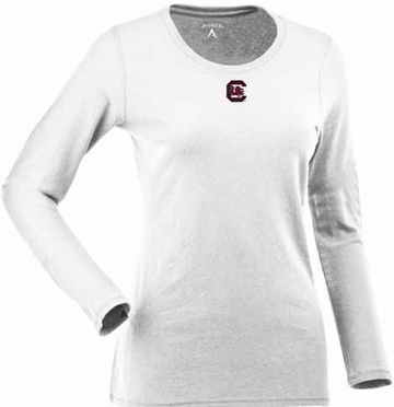 South Carolina Womens Relax Long Sleeve Tee (Color: White)