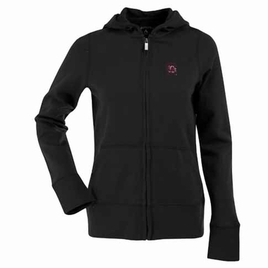 South Carolina Womens Zip Front Hoody Sweatshirt (Color: Black)