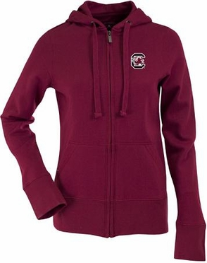 South Carolina Womens Zip Front Hoody Sweatshirt (Team Color: Maroon)