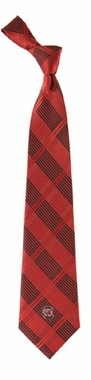 South Carolina Woven Plaid Necktie