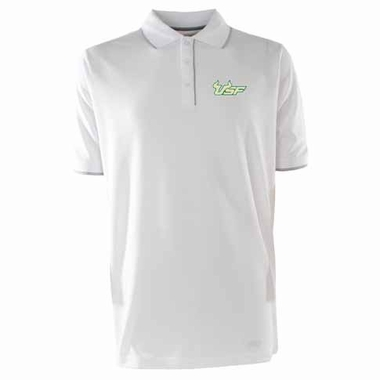 South Florida Mens Elite Polo Shirt (Color: White)