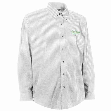 South Florida Mens Esteem Check Pattern Button Down Dress Shirt (Color: White)